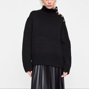 ZARA | Sweater With Buttons